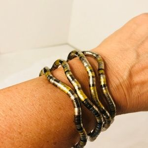 Jewelry - Mixed Metal articulated bracelet or necklace.